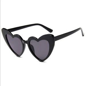 Accessories - NWOT Black Heart Shaped Sunglasses